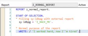 ABAP-Editor_Z_Normal Report